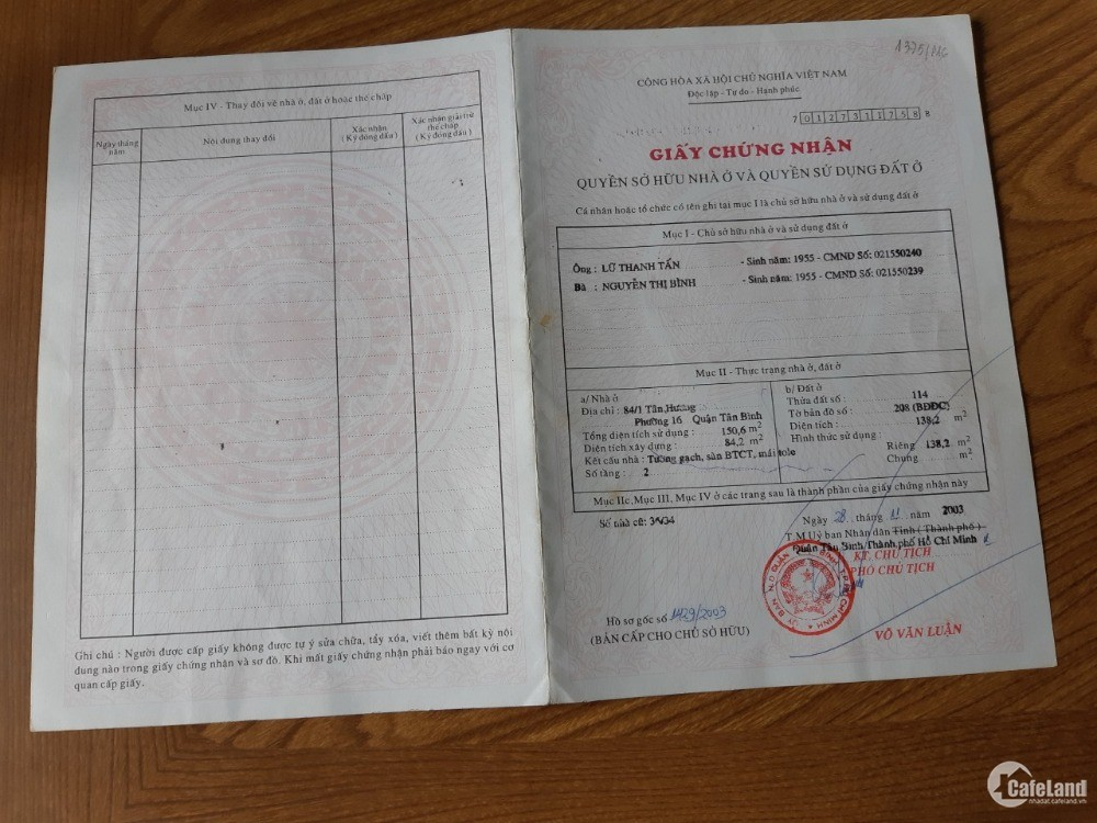 Chính chủ cần bán nhà ĐẸP, GIÁ TỐT tại P. 16, Q. Tân Bình, Tp HCM.