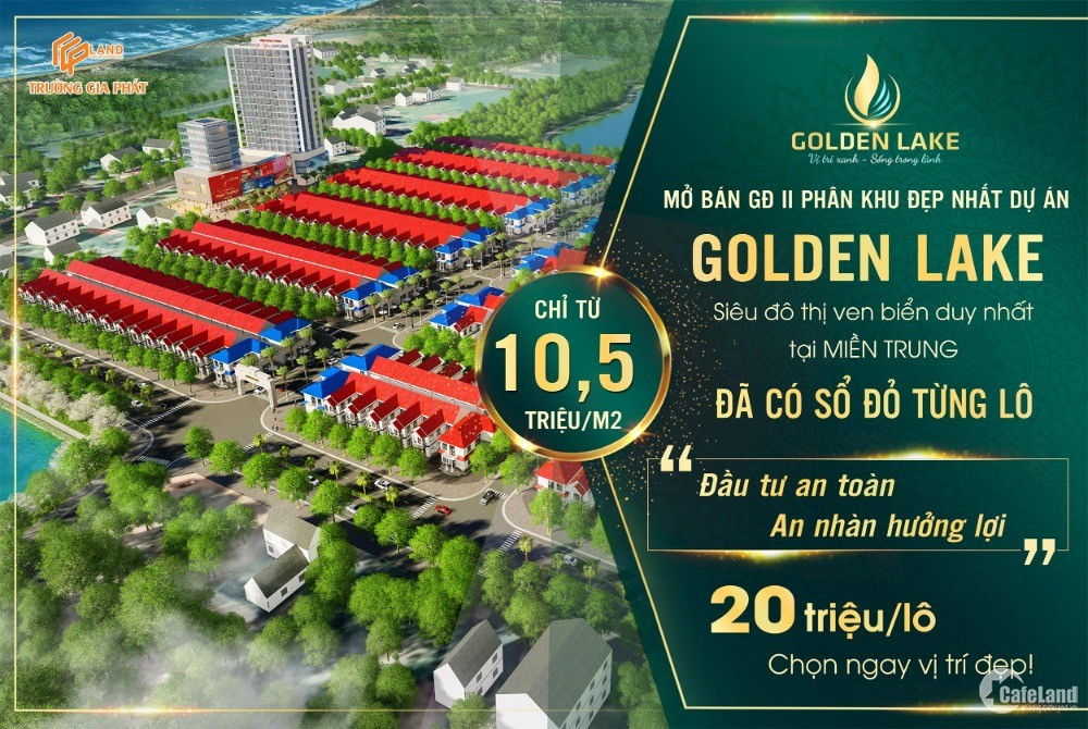 Dự án Golden Lake ven biển Bắc Đồng Hới, pháp lý hoàn hảo, nói không với rủi ro.