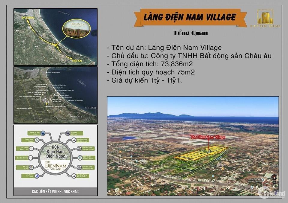 Dự án khu công nghiệp Điện Nam Điện Ngọc. Giá cực kì ưu đãi 1ty/nền.!!!