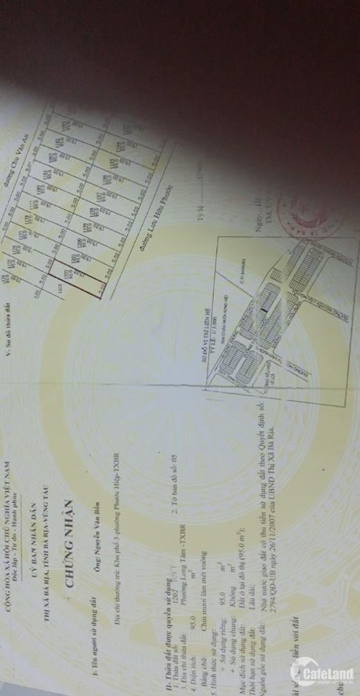 Mặt Tiền Lưu Hữu Phước Đối Diện Bệnh Viện , 5*19 full thổ cư giá 1ty720.