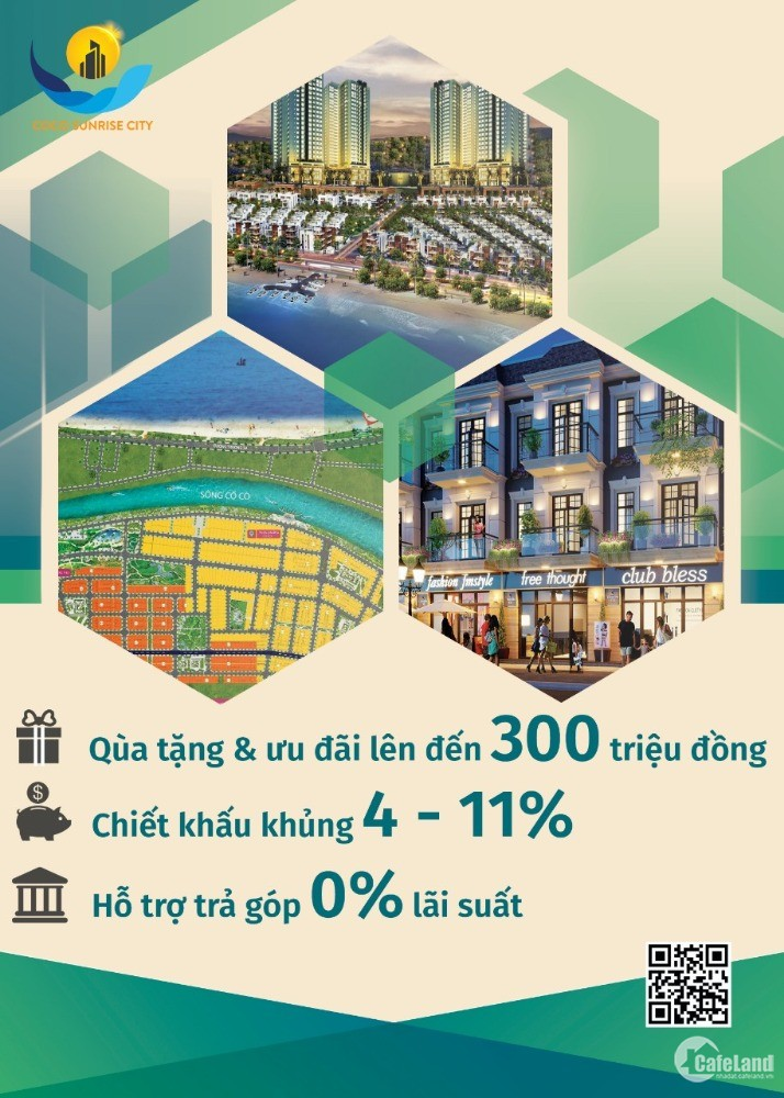 Mở bán KDT CoCo Sunrise, biệt thự view sông, nhà phố liền kề, ck 5-11% cho khách