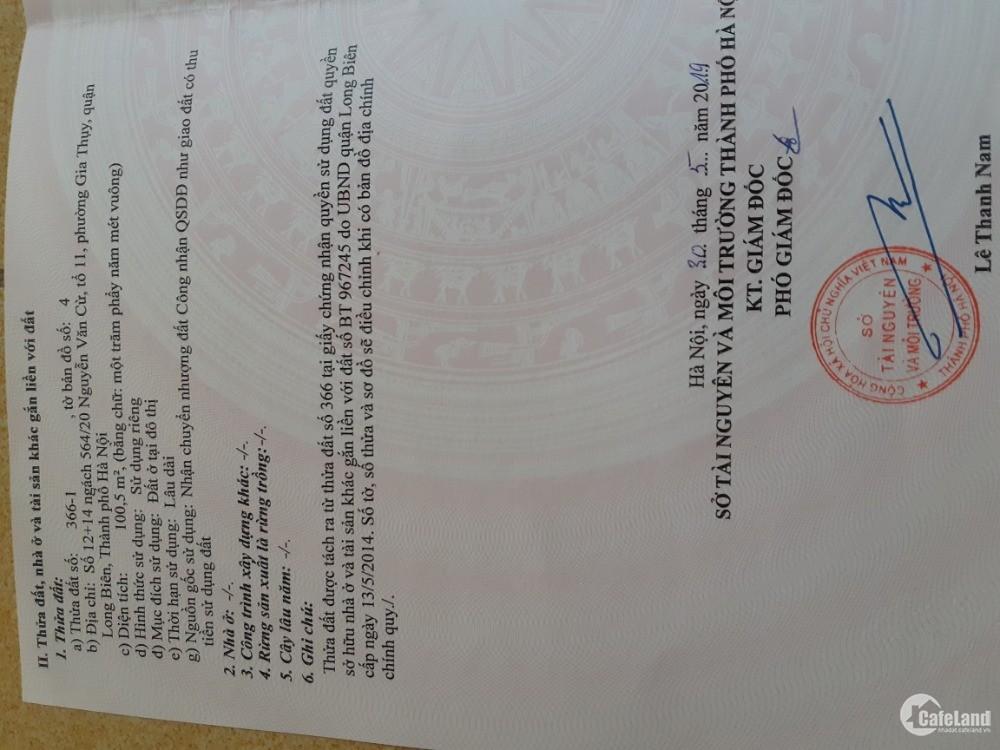 Bán gấp đất phường Gia Thụy,Nguyễn Văn Cừ, ô tô đỗ cửa,hướng Đông Nam, DT 50m2