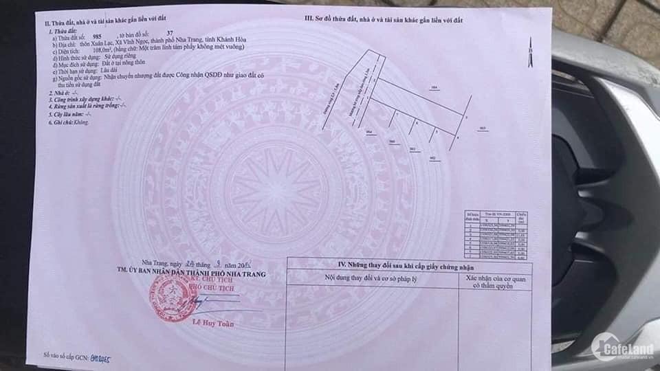 Bán nhanh lô đất đẹp hẻm 7m đường Phú Nông - Vĩnh NGọc