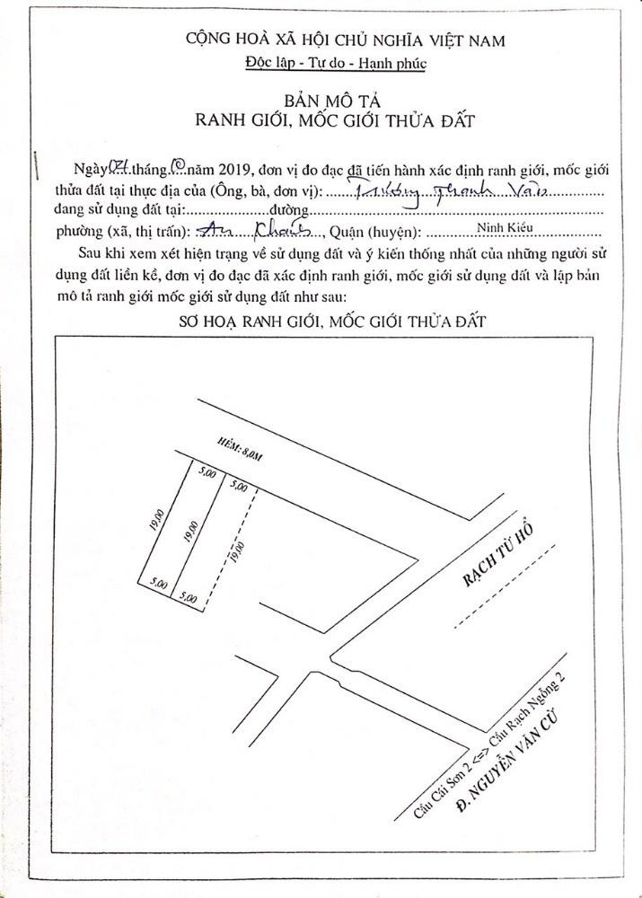 Bán Nền Hẻm 2 Đường 24 Thới Nhựt 1 Tặng 2 Căn Nhà Cấp 4 Và 3 Phòng Trọ