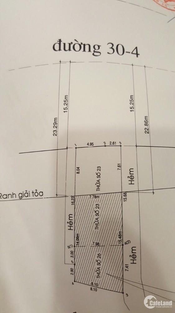 Cần bán lô đất 120  đường 30 tháng 4 phú quốc