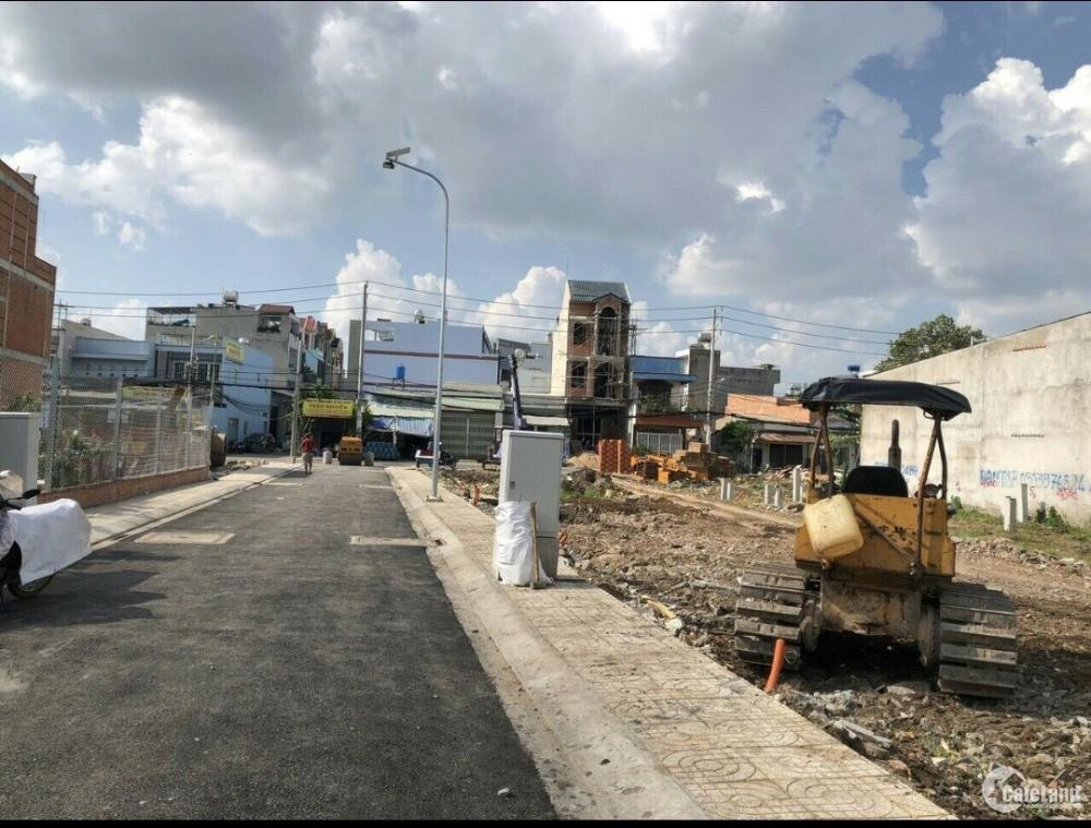 Đất Quận Bình Tân, xây dựng tự do. 100% thổ cư, điện tích 60m² đến 130m²