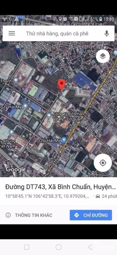 Bán đất gần chợ Hài Mỹ, Phường Bình Chuẩn, Dt:38.000m2, Giá 8tr/m2