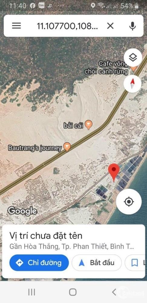 bán 5,7ha đất mặt tiền 350m biển Hòa Thắng Bắc Bình Bình Thuận vị trí đẹp