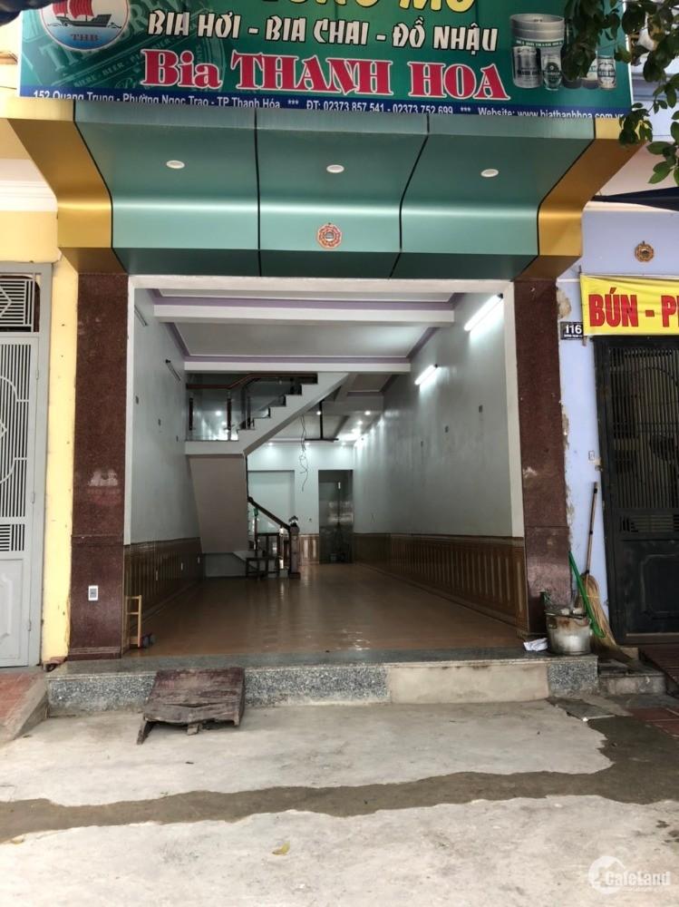 Cho thuê cả nhà mặt đường 3 tẩng, DT 80m2, đường TRịnh Khả, Đông Vệ, THANH HÓA