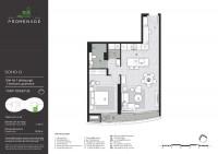 Bán căn hộ 1 phòng ngủ dự án City Garden, 75m2, giá 4.35 tỷ.