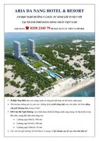 Aria Đà Nẵng hotel & resort/ Căn hộ nghĩ dưỡng cao cấp mặt tiền biển non nước DN