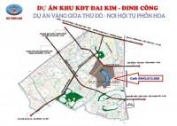 Bán đất nền LK DA Đại Kim Định Công, Đường 13,5m, giá sở hữu 2,4 ty/căn 96m2