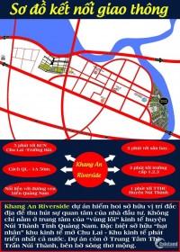 Mở bán dự án Khang An Riverside.Tọa lạc giữa trung tâm thị trấn Núi Thành.