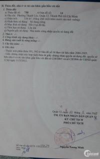 Bán đất thổ cư tại đường Thạnh Lộc 37 Quận 12