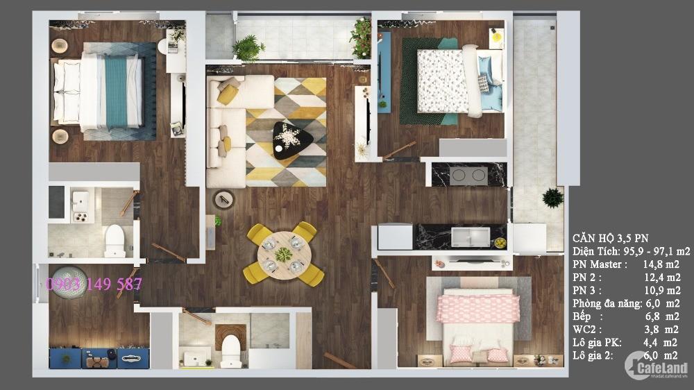 [PKD-Văn Phú] Trực tiếp bán căn hộ Terra An Hưng 1,531 Tỷ, Gồm VAT + KPBT