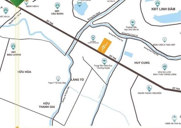 Bán liền kề shophouse dự án khu nhà ở thương mại dịch vụ Thanh Trì. Vị trí DA tạ