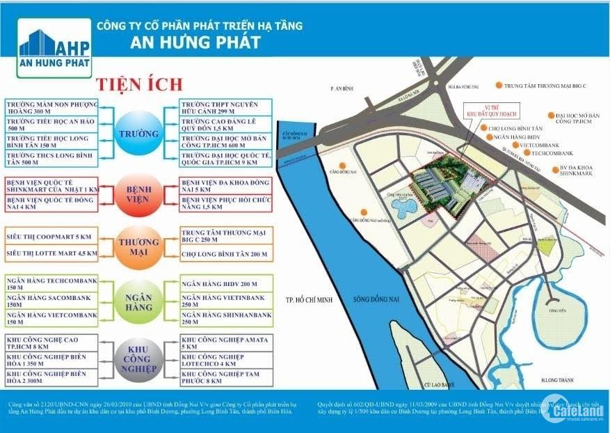 Bán đất khu dân cư Bình Dương, TP Biên Hòa, Đồng Nai, giá tốt nhất tháng 12/2019