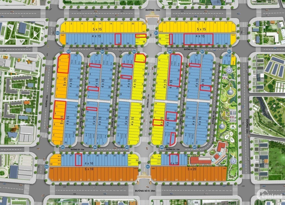 Mở bán nhà phố, đất nền - 4 mặt tiền, Icon Central – tại Dĩ An, Bình Dương