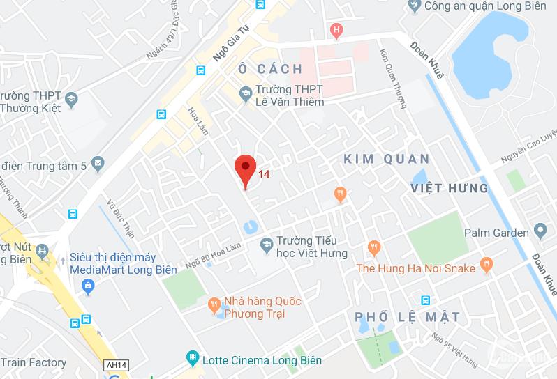 Bán đất phố Hoa Lâm - Quận Long Biên
