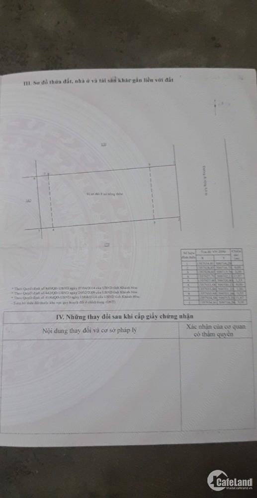 Cần bán lô Phù Sa, Vĩnh Ngọc, Nha Trang giá rẻ