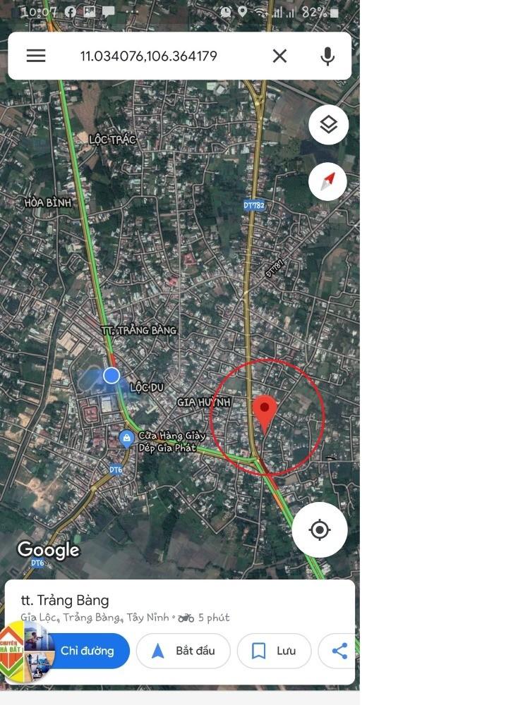 Đất trung tâm thị xã Trảng Bàng - Tây Ninh 100m2- lh 0916311968