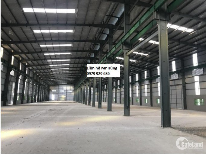 Chúng tôi cho thuê kho xưởng DT: 1500m2, 3500m2, 5000m2 tại KCN Thạch Thất Quốc