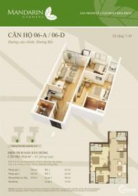 Cuối năm cần vốn nên bán căn hộ Mandarin2 83,6m View đẹp giá 2ty350