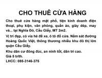 Cho thuê nhà mặt phố tiện kinh doanh tại Nghĩa Đô, Cầu Giấy