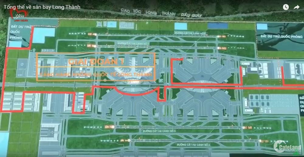 Bán đất ngay sân bay Long Thành DT 352m2 có 150m2 thổ cư