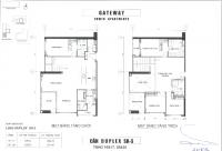 Bán căn hộ Duplex Gateway Thảo Điền, 4PN, 2 tầng, 239m2, hướng Tây