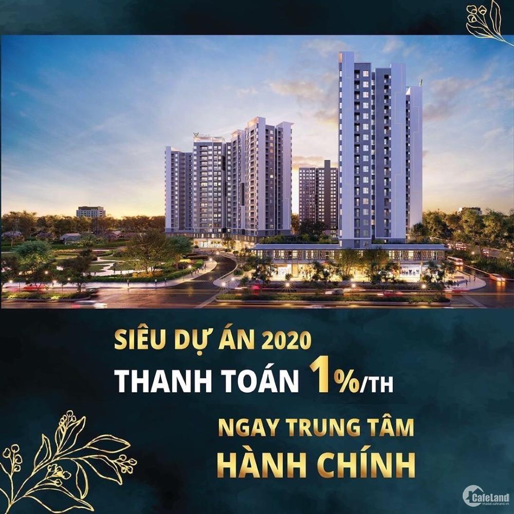 Bán căn hộ đối diện UBND Huyện Bình Chánh chỉ với 300tr (TT 1%/tháng)