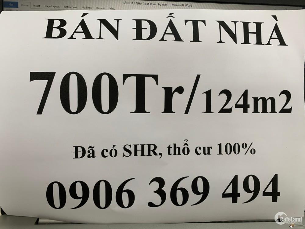 Bán đất cách QL1A 500m giá chì từ 700tr/124m2