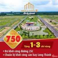 Bán Đất Mega City 2, Nhơn Trạch Mặt Tiền Đường 25C Đang Làm Giá Từ 7,5 tr/m2