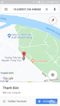 Bán đất cạnh trường tiểu học Nguyễn Trung Trực, thị trấn Bến Lức
