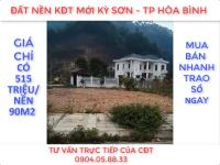 BÁN ĐẤT NỀN PHÂN LÔ KĐT MỚI KỲ SƠN - TP HÒA BÌNH