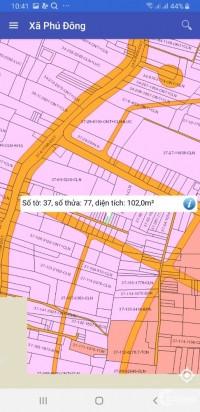 cần bán lô đất xã phú đông.diện tích 102m2