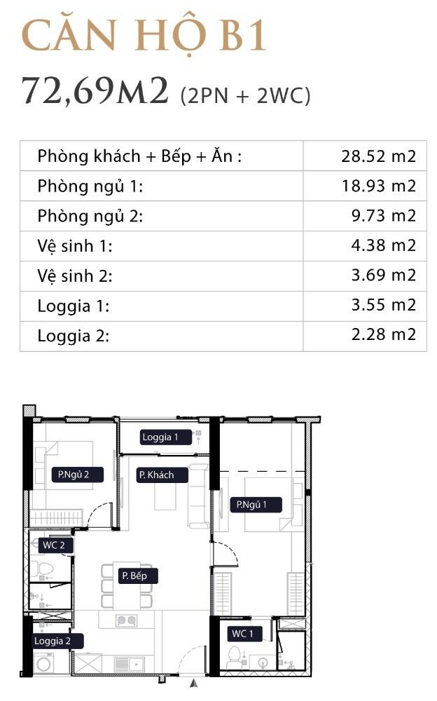 Chính Chủ Cần Bán Căn 73m B1 Ban Công Đông Nam, Chung Cư Anland Lakeview