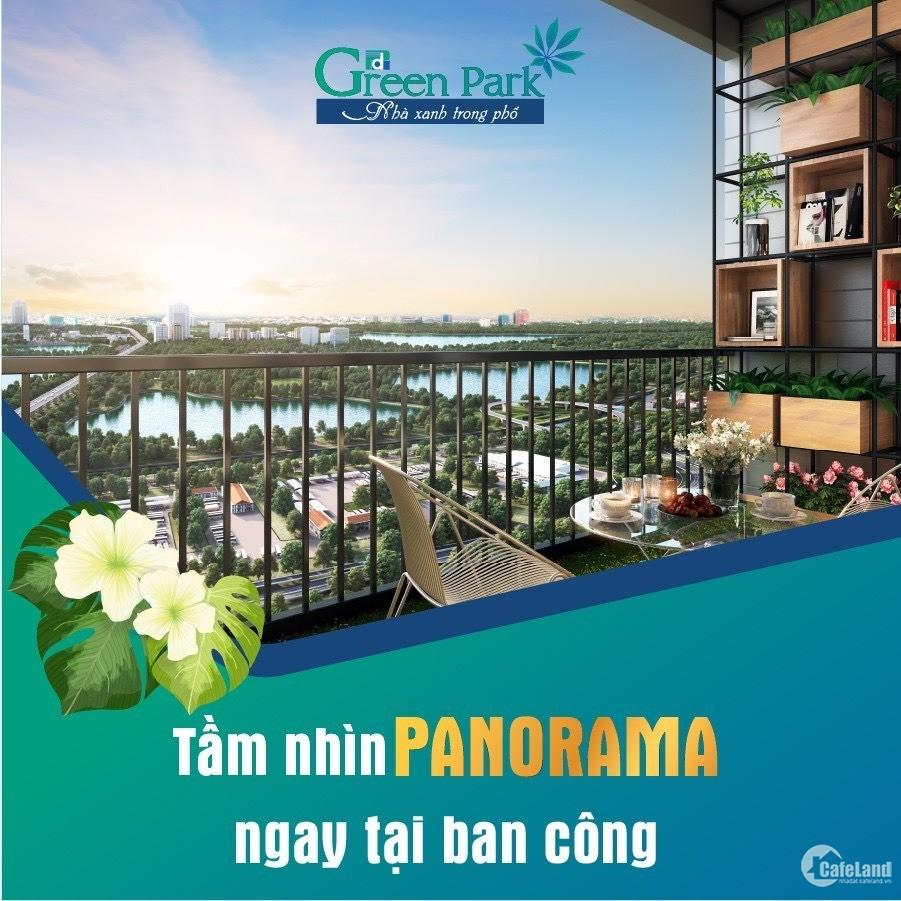 Chỉ 1,3 tỷ sở hữu căn 2 phòng ngủ view hồ Linh Đàm tại Phương Đông Green Park