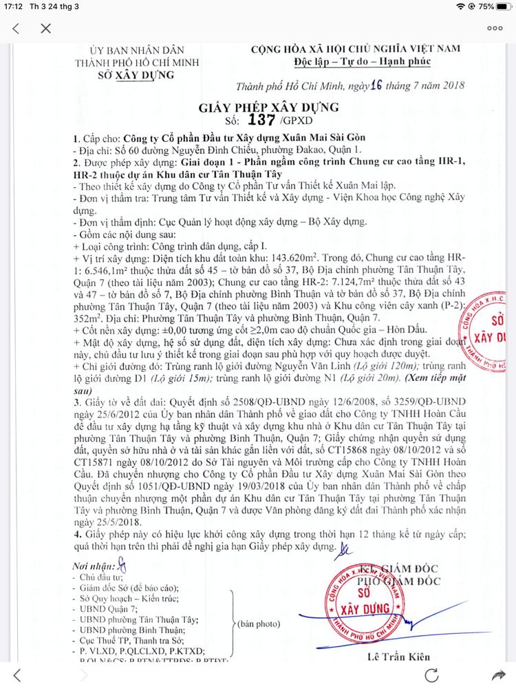 Chung cư cao cấp quận 7 sắp bàn giao và những chính sách ưu đãi của cdt Xuân Mai
