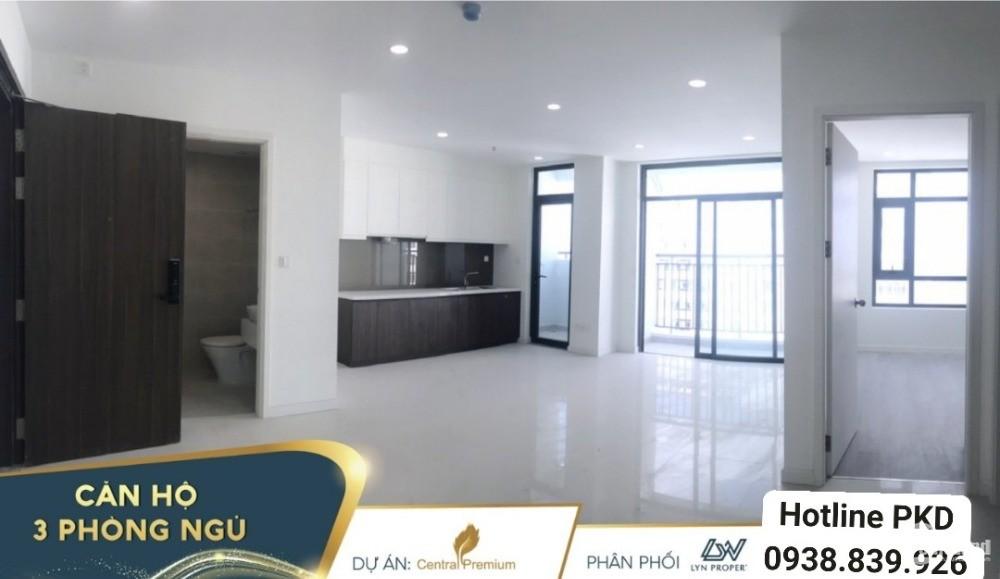 Central premium, Căn hộ Quận 8 98m² 3PN, tầng 18, view góc 2 mặt tiền,hướng ĐN