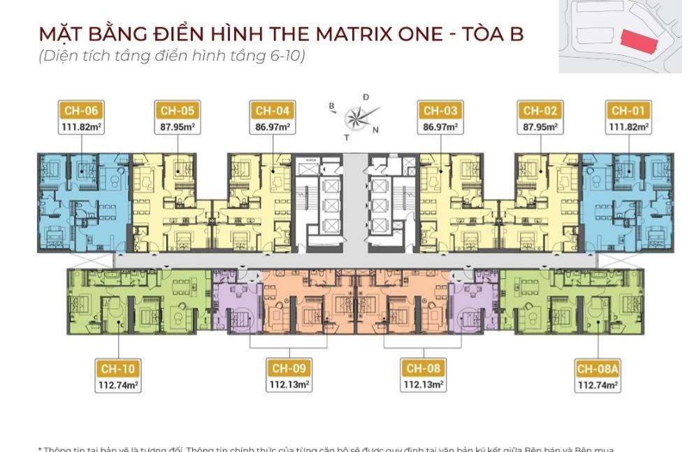 Bảng hàng trực tiếp chủ đầu tư The Matrix One. LH 0982416892