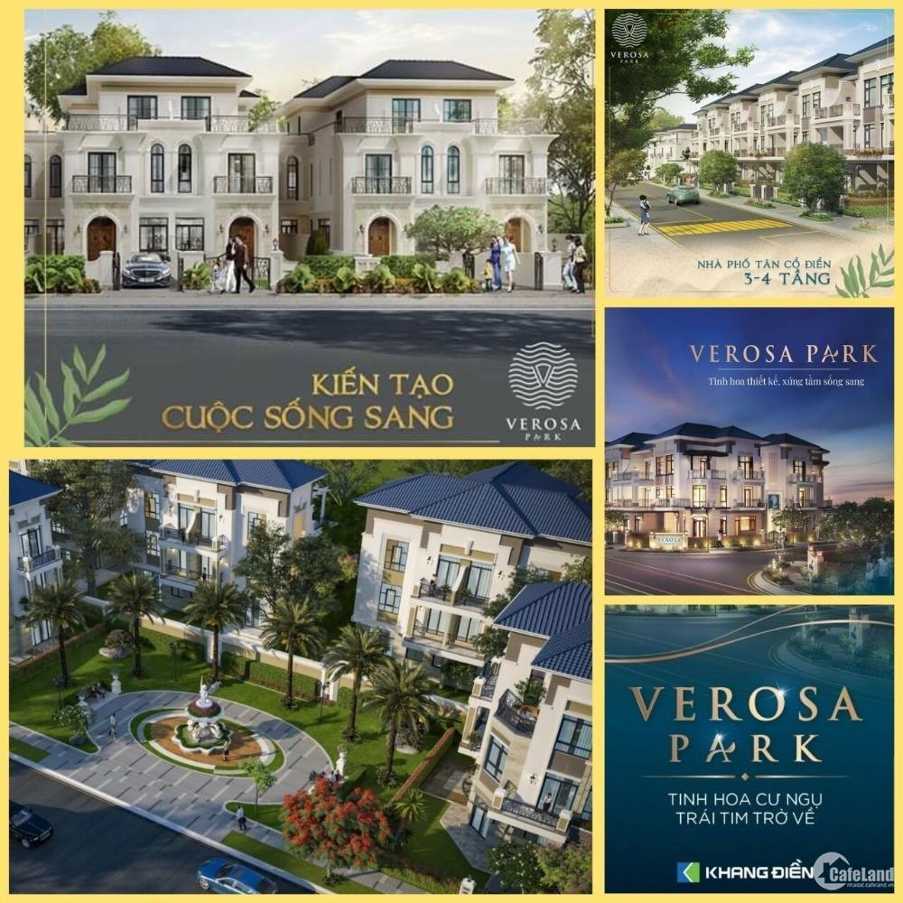 Chỉ 3 tỷ nhận nhà ngay nhà phố Verosa Park Khang Điền cách Q1 Q2 Q7 15 phút - LH