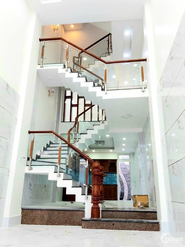 Nhà đẹp mới xây hẻm ô tô Hưng Phú Phường 9 Quận 8 + Diện tích: 3.6 x 17.9m