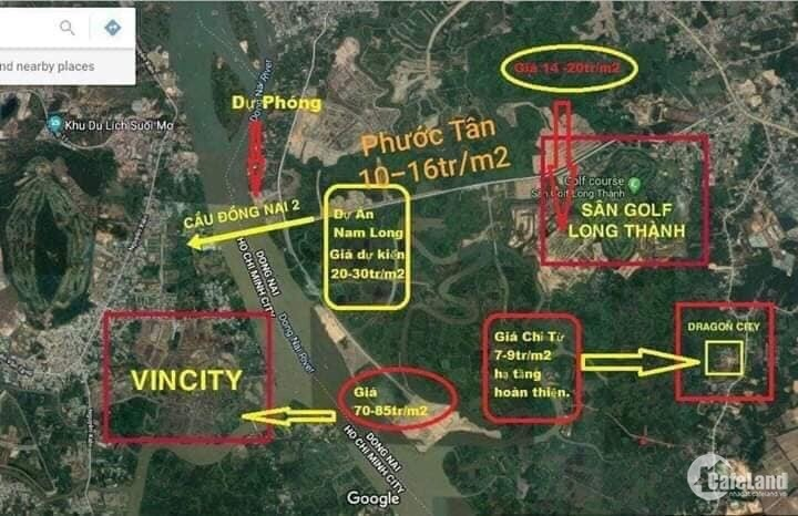 Gấp bán lô đất 80m2 thổ cư, 5m*18m, đối diện Sân Golf Long Thành 36 lỗ, liên hệ