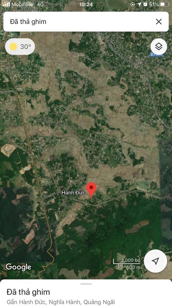 Bán đất nền - Xã Hành Đức,diện tích:2338m2, giá 3xxtr.