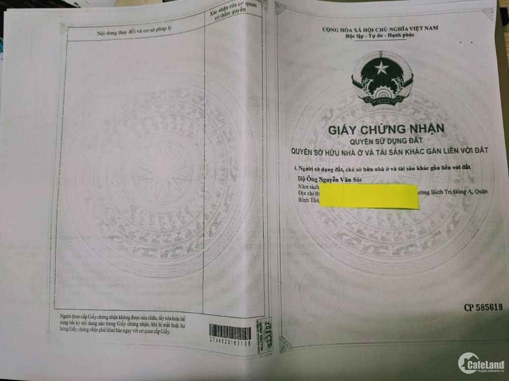 Bán đất nền hẻm 8M Lê Văn Qưới-Q.Bình Tân, SỔ HỒNG RIÊNG Gía 69tr/m2