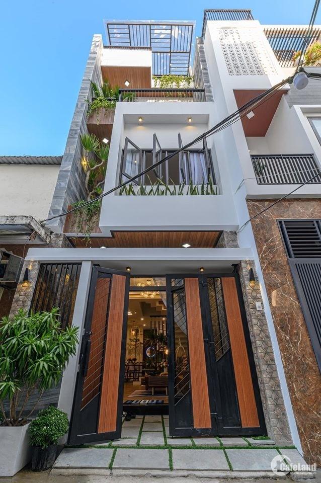 Cho thuê nhà 3 tầng MT đường Dương Tử Giang. Giá thuê: 550 USD/Tháng