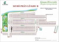 Đất sổ trao tay Green Riverside Anh Tuấn Nhà Bè khu B đường 8m, 3ty230
