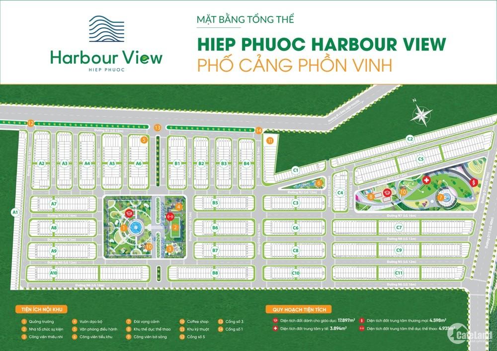 Đất nền sổ đỏ 80m2 giá 1.3 tỷ/nền - Hiệp Phước Harbour View, thanh toán 24 tháng