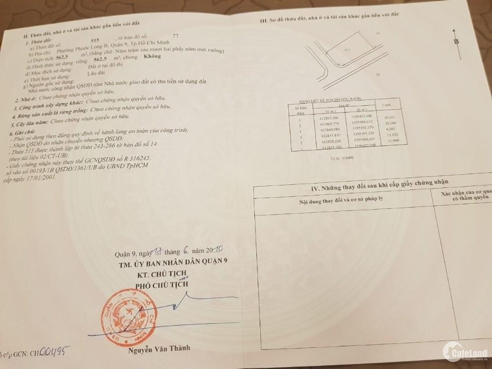 Cần Bán Nhanh 2 Lô Đất Biệt Thự Đối Diện Merita Khang Điền Q9